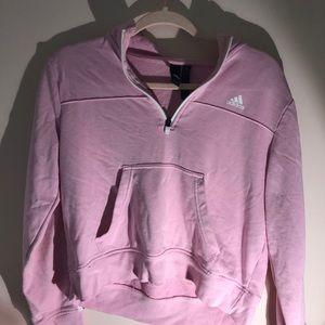 Semi Cropped Pink Adidas half zip up